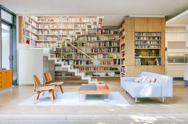طراحی کتابخانه در خانه